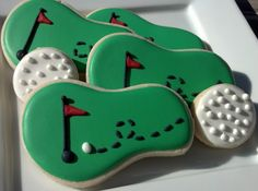 Golf cookies...love the dots on the golf balls!