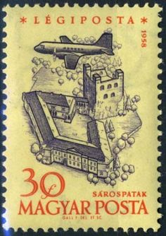 Sello: Castle of Sárospatak (Hungría) Anniversary of Hungarian Airpost Stamps) Mi:HU