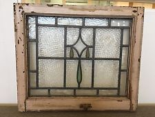 reclaimed antique stained glass window panel