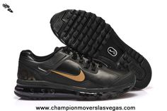 Black Gold Nike Air Max 2013 Leather
