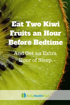 Studies have shown that one in three adults suffers from insomnia or symptoms of insomnia, meaning that one in three adults struggles to get enough sleep. But the key to a night of longer, better quality sleep may be as simple as eating two kiwi fruits a Treating Insomnia, Insomnia Help, Stress Relief Tips, Natural Stress Relief, Sleep Apnea Remedies, Natural Sleep Aids, How To Increase Energy