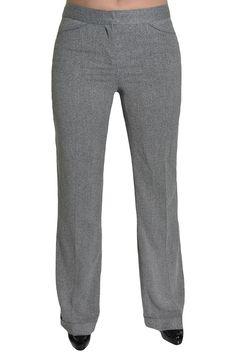 Anne Klein Dress Pants Straight Leg 6 Black White Heathered Cuffed Trouser NEW #AnneKlein #DressPants