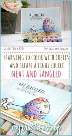 Copic Coloring and Light Source with Neat and Tangled - Learn how to create a light source when coloring with Copic Markers. Shading Techniques, Colouring Techniques, Copic Markers Tutorial, Neat And Tangled, Free Adult Coloring Pages, Coloring Tutorial, Alcohol Markers, Card Maker, Digi Stamps