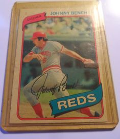 Cincinnati Reds Johnny Bench 1979 Vintage Baseball Card O-Pee-Chee Canada Print Safely Stored For Over 38 Years in plastic container This Will be a great Gift for any Fan Shipping will be within 2 days of your payment All Sales are Guarante. Johnny Bench, Cincinnati Reds, Saved Items, All Sale, Great Gifts, Fans, Container, Canada, Plastic