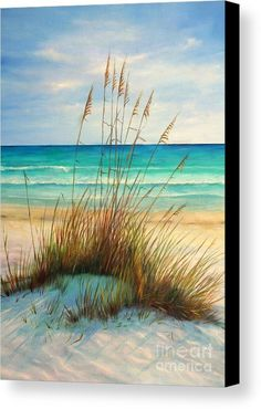 Siesta Key Beach Art Print featuring the painting Siesta Key Beach Dunes by Gabriela Valencia Watercolor Inspiration, Painting Inspiration, Watercolor Ideas, Art Plage, Siesta Key Beach, Beach Art, Ocean Beach, Nature Beach, Beach Yoga