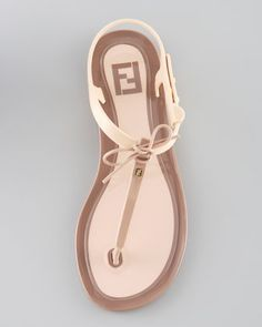Fendi Jelly Flat Thong Sandal