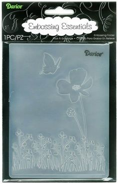 Darice Embossing Folder (Size A2) - Butterfly On Flower. Thanks Mom!