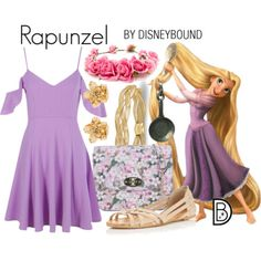 DisneyBound is meant to be inspiration for you to pull together your own outfits which work for your body and wallet whether from your closet or local mall. As to Disney artwork/properties: ©Disney Disney Princess Outfits, Disney Themed Outfits, Disneyland Outfits, Disney Dresses, Modern Disney Outfits, Disney Bound Outfits Casual, Rapunzel Outfit, Rapunzel Costume, Cute Disney