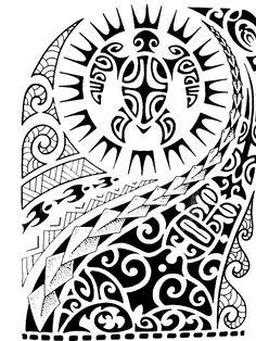 Tribal/Maui Sleeve Black Temporary Tattoo – tattoos for women half sleeve