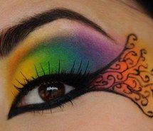 Inspiring picture eye, amazing, colorful, eyeliner, eyes. Resolution: 500x369. Find the picture to your taste!