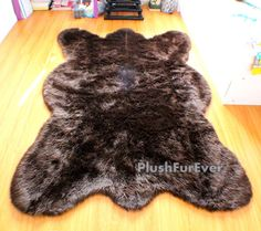 4' x 6' / Big brown bear by PlushFurever