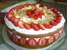 fraisier cake, genoise, pastry cream, berries, italian meringue toasted...