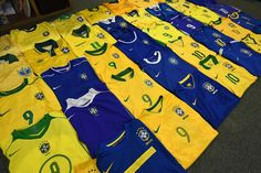 Football Shirts, Brazil, Flag, Quilts, Country, Collection, Football Jerseys, Soccer Shirts, Comforters