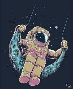 Astronaut illustration, moon illustration, astronaut wallpaper, wallpaper s Art And Illustration, Astronaut Illustration, Art Illustrations, Astronaut Drawing, Creative Illustration, Art Pop, Illustrator Design, Illustrator Cs5, Astronaut Wallpaper