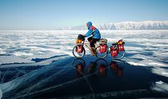 bike in Baikal lake