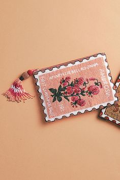 Beaded Postage Pouch