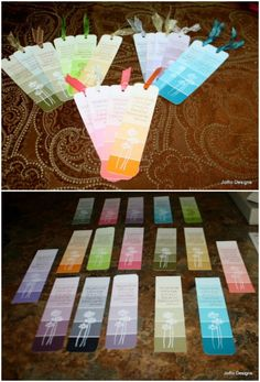 Make Cute Bookmarks From Paint Chip Cards Rubber Stamps And Ribbon