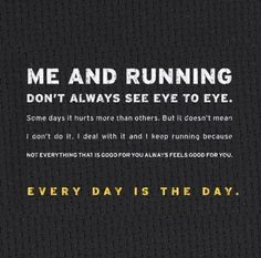 I love this - running makes me faster, fitter and happier!!
