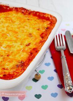 lasaña de carne - use la receta de la salsa y el modo de colocación de la pasta y salsas.