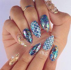 Mermaid Nails  @Kittysrevenge