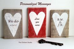 Personalized Valentine's gift Wedding Gift by TheChickenStudio