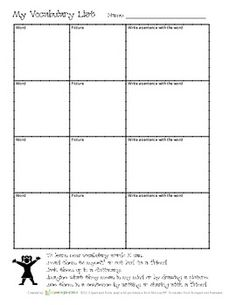 Free - Differentiated ESL/Special Needs/Learning Styles simple tool - Vocabulary list - Graphic Organizer - English Language Arts Teacher Freebies, Classroom Freebies, Math Classroom, Vocabulary Instruction, Vocabulary List, Reading Comprehension Strategies, Reading Resources, Spelling Activities, Listening Activities