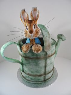 www.cakecoachonline.com - sharing....Peter Rabbit Cake - The Sugar Plum Bakery by Tara Saphir