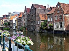 Gent, Belgium. Along the Leie River