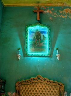 Green wall , Cuba /Michael Eastman