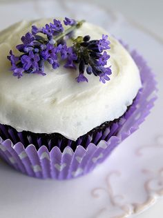 [ Visual Inspiration: Lavender Cupcakes ] ~ from theCupcakeBlog.com where there is much appreciation (and many pictures depicting) the art of the cupcake.