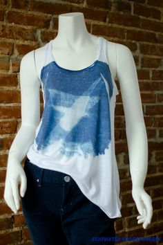 Cyanotype tank by SunprintHodgepodgery on Etsy, $25.00