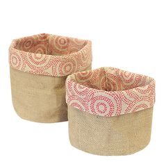 Reversable Hessian Woven Soft Basket Duo - use for storing kids toys, craft projects, magazines, bathroom bits, even planter 'buckets' for herbs in the kitchen. Toy Storage, Storage Baskets, Gift Baskets, Kids Toy Store, Sustainable Gifts, Natural Home Decor, How To Dye Fabric, Sewing Hacks, Sewing Tips