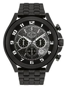Bar & Shield Dimensional Link Chronograph Watch