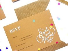 Oh So Beautiful Paper: Elspet + Thomas's Whimsical Hand Lettered Wedding Invitations