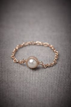 beautiful chain and pearl ring  #jewelry