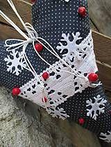 Vianoce - veľké vločkové srdce - 4820182_