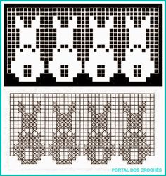 Filet Crochet, Crochet Chart, Crochet Stitches, Doily Patterns, Stitch Patterns, Crochet Patterns, Kids Knitting Patterns, Knitting Charts, Crochet Cushions