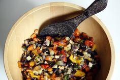 Sallad på rostade grönsaker