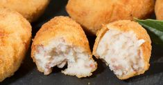 Ham and Swiss Cheese Croquettes Yummy Appetizers, Appetizer Recipes, Tapas, Lactose Free Milk, Ham And Cheese, Swiss Cheese, Main Meals, Finger Foods, Food To Make