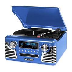 Bluetooth Record Player, Retro Record Player, Stereo Turntable, Turntable Record Player, Record Players, Stereo Speakers, Radios, Vinyl Records, 5 D