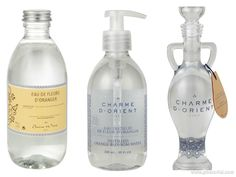 Floral waters by Charme d'Orient are available in 200ml, 300ml, 500ml and 5l sizes