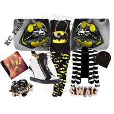 """The BAT Chick"" by kcfash on Polyvore"