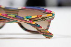 Des lunettes en Skateboard recyclé