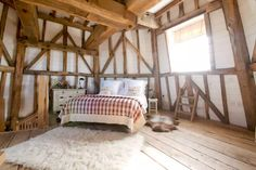 This is a windmill cottage in England called the Old Smock Mill. It's a cozy little place to stay out of Benenden, England via Airbnb. Tiny Cabins, Cabins And Cottages, Tiny Houses For Sale, Interior Decorating, Interior Design, Le Moulin, Baskets On Wall, Beautiful Bedrooms, Soft Furnishings