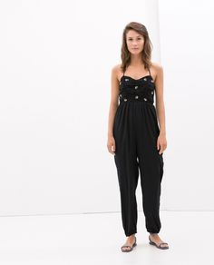 Image 1 of JEWELLED JUMPSUIT from Zara