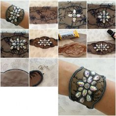 DIY Jewel Lace Bracelet