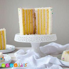 کیکی با لایه های عمودی cake with vertical layer آموزش و مراحل کار در لینک زیر : http://kaghaz-rangi.com/foods/1023_vertical_layer_cake