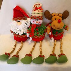 Cute Lovely Decoration Santa Claus Snowman Hanging Christmas Tree Ornament Chritmas Gift