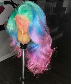 Beautiful long wavy wigs for black women lace front wigs human hair wigs hairstyles Schöne lange gew My Hairstyle, Wig Hairstyles, Pretty Hairstyles, Toddler Hairstyles, Black Hairstyles, Lace Front Wigs, Lace Wigs, Hair Colorful, Rainbow Wig