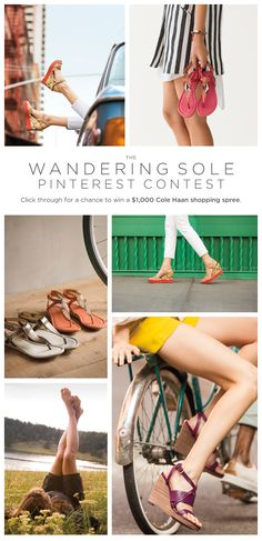 If your soles could wander wherever they want, where would they go? Pin your wanderlust wish list for the chance to win a Cole Haan shopping spring. Enter here: http://on.fb.me/10TzvsM  #wanderingsole
